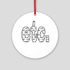 Etc Ornament (Round)