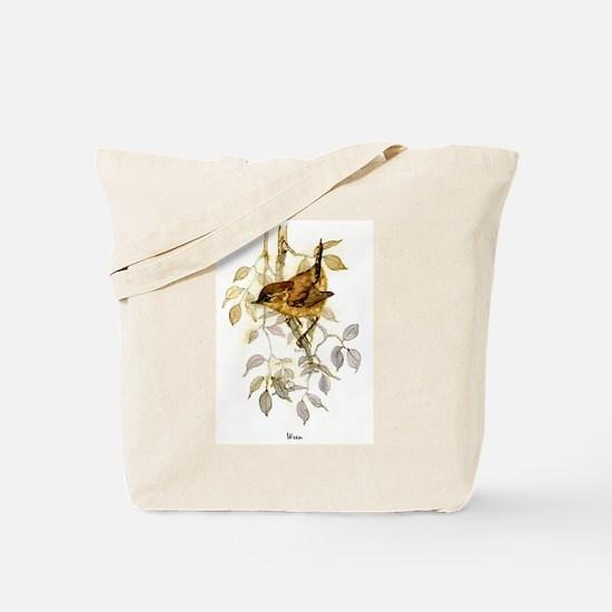 Wren Peter Bere Design Tote Bag