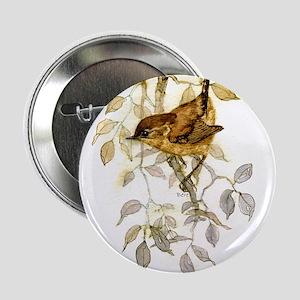 """Wren Peter Bere Design 2.25"""" Button"""