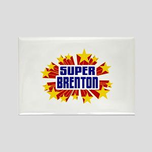 Brenton the Super Hero Rectangle Magnet