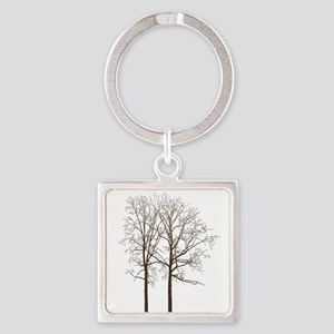 Brown Trees Keychains