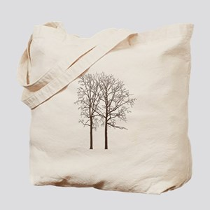 Brown Trees Tote Bag