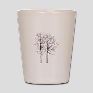 Brown Trees Shot Glass