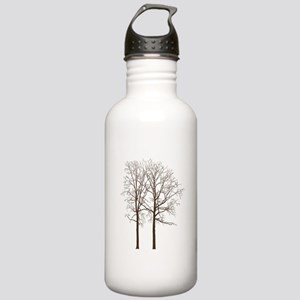 Brown Trees Water Bottle