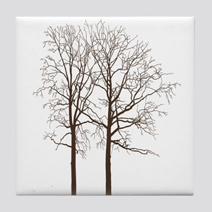 Brown Trees Tile Coaster