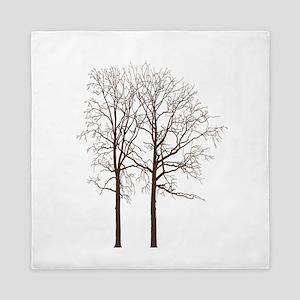 Brown Trees Queen Duvet
