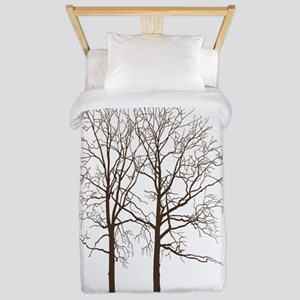 Brown Trees Twin Duvet
