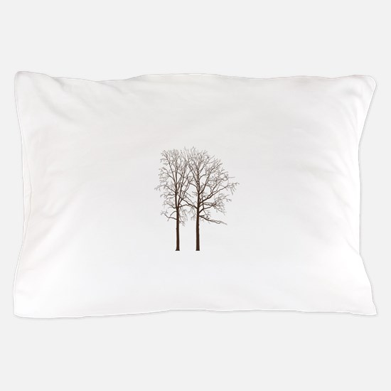 Brown Trees Pillow Case