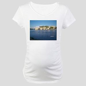 Avignon and Pont Saint-Bénezet Maternity T-Shirt
