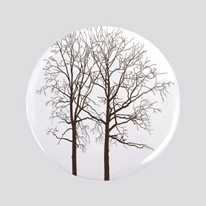 """Brown Trees 3.5"""" Button"""
