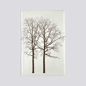 Brown Trees Rectangle Magnet