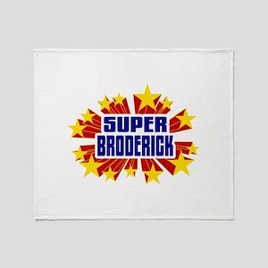 Broderick the Super Hero Throw Blanket