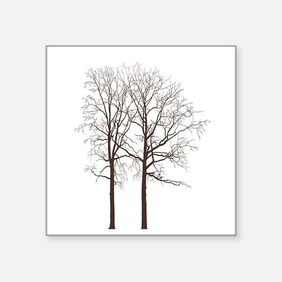 Brown Trees Sticker