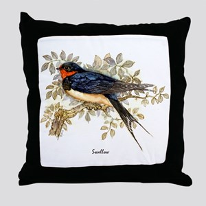 Swallow Peter Bere Design Throw Pillow