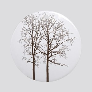 Brown Trees Ornament (Round)