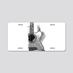 Guitar Aluminum License Plate