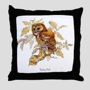 Tawny Owl Peter Bere Design Throw Pillow