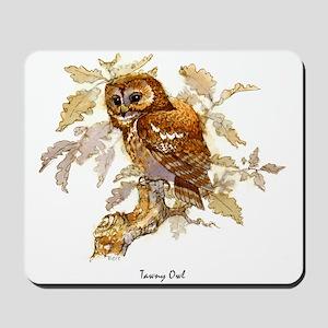 Tawny Owl Peter Bere Design Mousepad