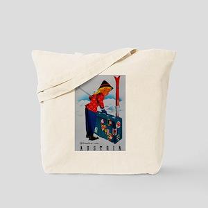 Vintage Austria Ski Travel Tote Bag