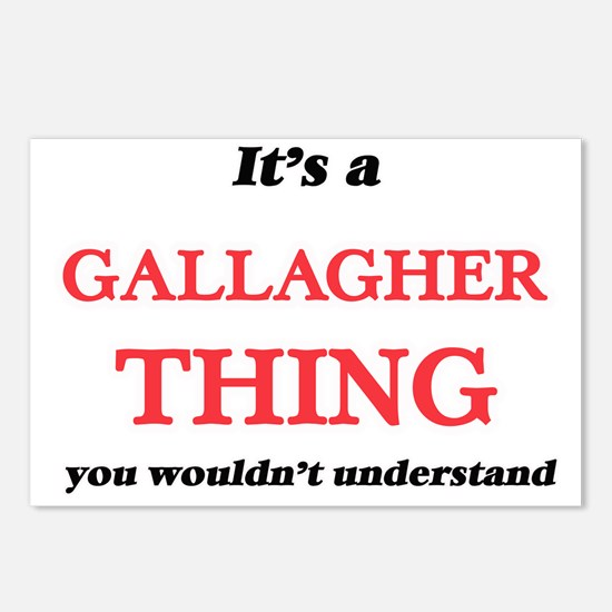 It's a Gallagher thin Postcards (Package of 8)