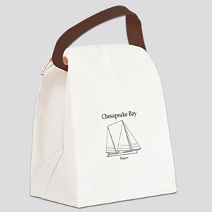 Bugeye Sailboat (line art) Canvas Lunch Bag