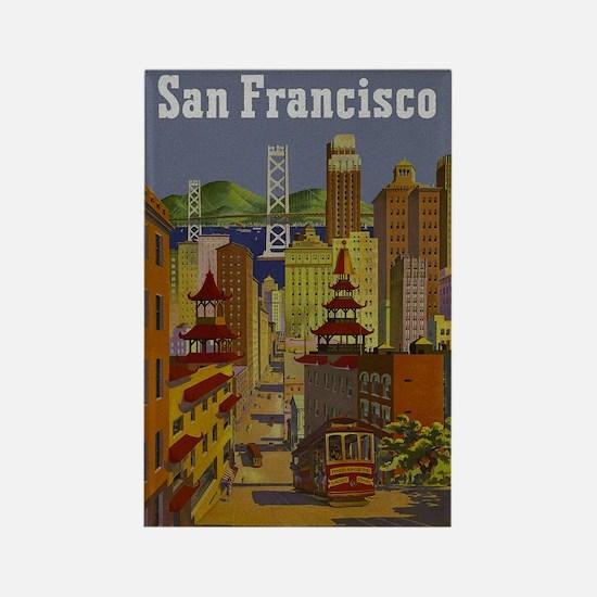 Vintage San Francisco Travel Rectangle Magnet (10