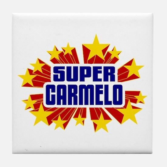 Carmelo the Super Hero Tile Coaster