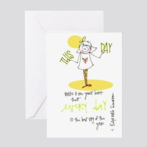 Honor This Day Greeting Card