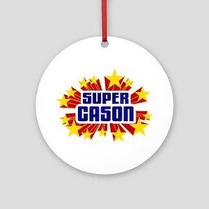 Cason the Super Hero Ornament (Round)