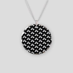 Monochrome Bird Pattern. Necklace
