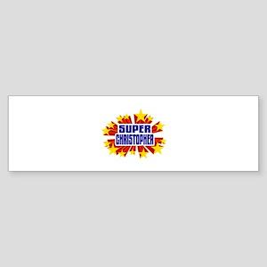 Christopher the Super Hero Bumper Sticker