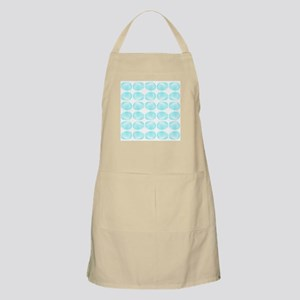 Aqua Color Shell Pattern. Apron