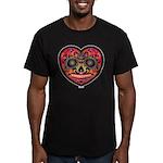 EL DiA DE LOS MUERTOS Heart Head RED T-Shirt