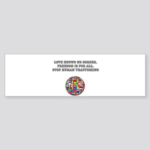 stop human trafficking Bumper Sticker