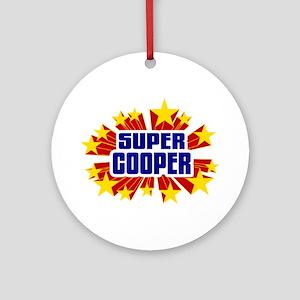 Cooper the Super Hero Ornament (Round)