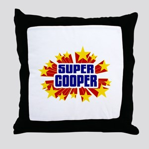 Cooper the Super Hero Throw Pillow
