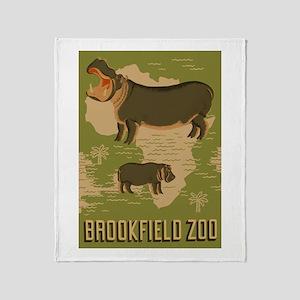 Hippo Zoo Throw Blanket