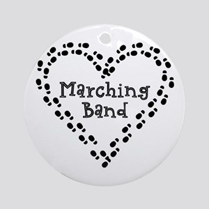 Marching Band Footprints Round Ornament