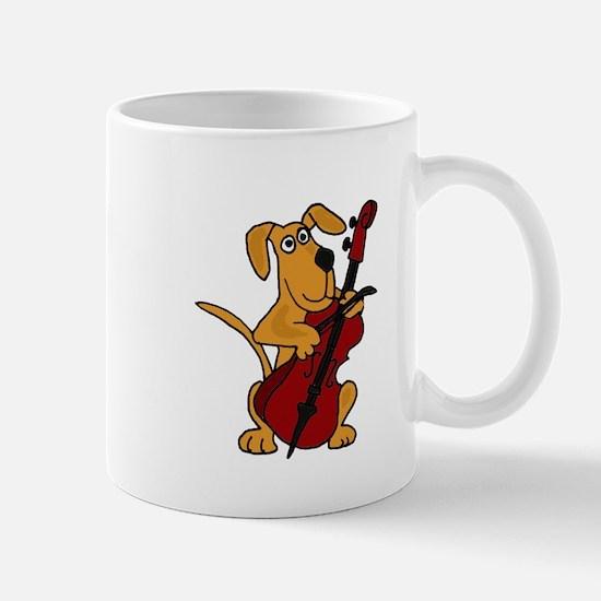 Dog Playing Cello Mug