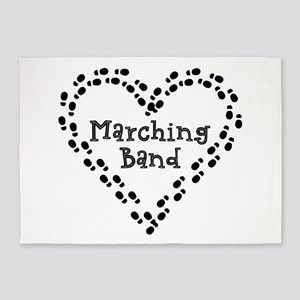 Marching Band Footprints 5'x7'Area Rug