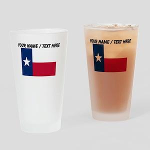 Custom Texas State Flag Drinking Glass