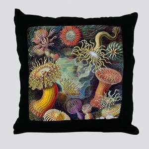 sea anemones-sq Throw Pillow