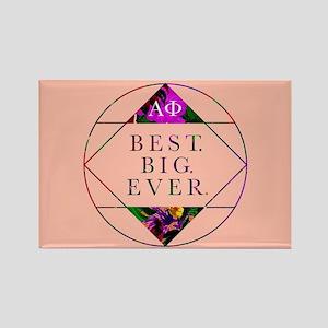 Alpha Phi Best Big Rectangle Magnet