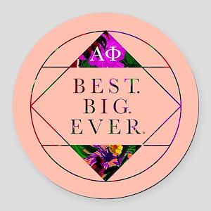 Alpha Phi Best Big Round Car Magnet