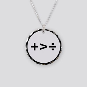 Addition is greater than division Necklace