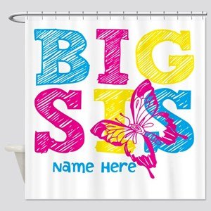 Butterfly Big Sis Shower Curtain