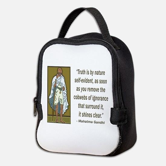 GANDHI TRUTH QUOTE Neoprene Lunch Bag