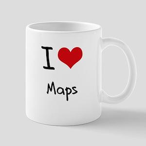 I Love Maps Mug