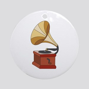 Vintage Phonograph Ornament (Round)