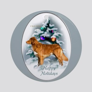 Duck Tolling Retriever Christmas Round Ornament